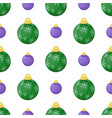 christmas balls seamless pattern colorful xmas vector image vector image