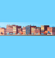 city building houses view skyline background real vector image
