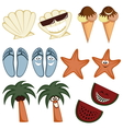 Classic summer icons vector image