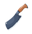 color image a cleaver metal kitchen knife on a vector image vector image
