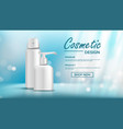 cosmetic bottle template female hygiene vector image