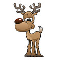 cute deer cartoon character vector image
