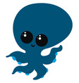 cute octopus on white background vector image vector image