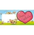 Cute teddy bear design with valentine heart vector image vector image