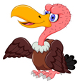 cute Vulture cartoon posing vector image vector image