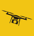 drone with action camera front view vector image vector image