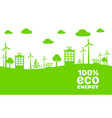 eco energy generator natural green electric city vector image