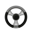 flat icon of car helm steering wheel of vector image