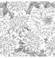 floral seamless pattern flower sketch chinese vector image vector image