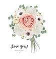 flower bouquet floral bunch card design vector image vector image