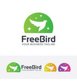 freedom bird logo design vector image