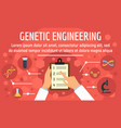 genetic engineering concept banner flat style vector image vector image