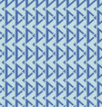 geometric seamless pattern blue palette vector image vector image