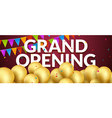 Grand Opening event invitation banner with golden