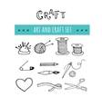 Handmade crafts workshop icons Hand drawn vector image vector image