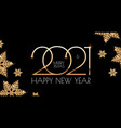 happy new 2021 year elegant holiday design vector image