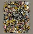 hippie hand drawn doodles vector image