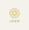 hipster logo template vector image vector image