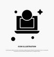laptop dollar money solid glyph icon vector image vector image