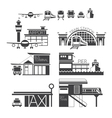 mode of transport icons objects vector image