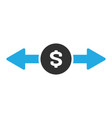 money exchange icon in trendy flat style isolated vector image vector image