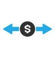 money exchange icon in trendy flat style isolated vector image