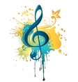music clef vector image