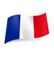 national flag of france blue white and red vector image vector image