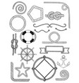 nautical pack icon set vector image vector image