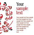 ornament textual frame vector image vector image