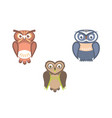 owl birds flat vector image vector image