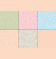pastel abstract patterns vector image