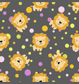 pattern with cute african lion
