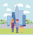 people park and city vector image