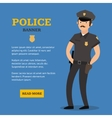 Police Man Banner vector image vector image