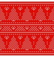 Red Holiday seamless pattern with cross stitch vector image vector image