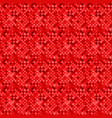red seamless square pattern background - abstract vector image vector image