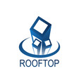 roof top logo concept design template in blue vector image