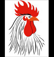 rooster bird concept chinese new year rooster vector image