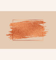 rose gold or copper color foil texture frame vector image