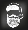 Santa claus christmas symbol hand drawn