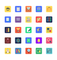 school and education colored icons 1 vector image