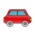 scribble car cartoon vector image