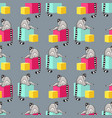 seamless pattern with cartoon lemurs an vector image vector image