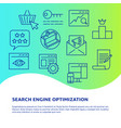 search engine optimization banner in line style vector image vector image