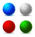 set geometric balls vector image vector image