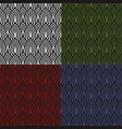 set of abstract colored seamless patterns vector image vector image