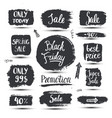 set of hand drawn sale promotion banners vector image vector image