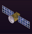 space satellite icon isometric style vector image vector image