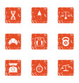 study of the body icons set grunge style vector image